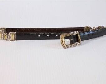 Vintage Brighton belt reversible brown and black leather size medium