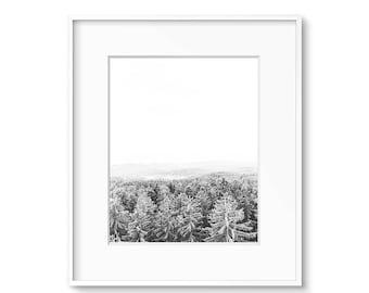 Scandinavian Print, Modern Art, Landscape Print, Forest Print, Black and White Art, Prints, Printable Art, Digital, Download, Poster, Art