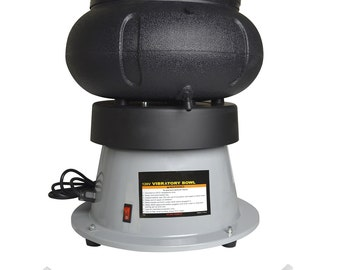 Heavy-Duty Vibratory Tumbler - 110V 18 Lb Capacity w/ Liquid Drain Hose for Jewelry Metal Wet or Dry Media Polishing Finishing - POL-0119