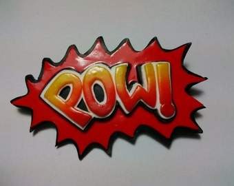 POW Pop Art Brooch/Badge/Pin
