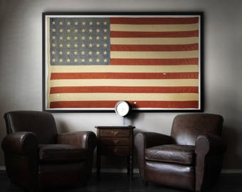 American Flag Print Vintage