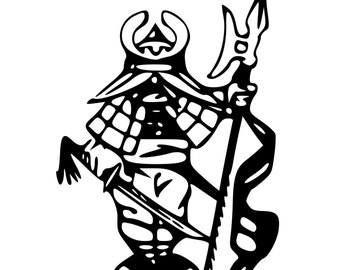 Japanese Warrior Ninja Die-Cut Decal Car Window Wall Bumper Phone Laptop