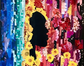 Floral Silhouette Collage