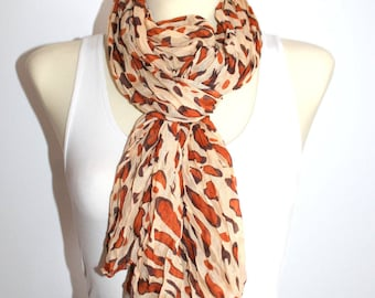 Leopard Print Scarf Brown Scarves for Women Leopard Scarf Women Boho Scarf Spring Scarves for Women Gifts for Mom Gift Mothers Day Gift