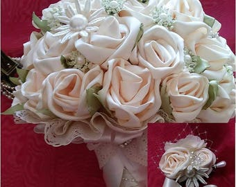 cream wedding bouquets bridal bouquet etsy 3175