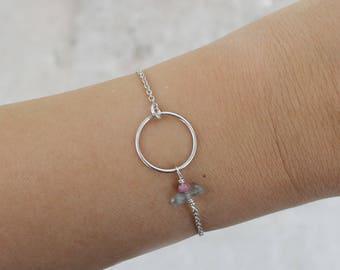 Circle bracelet in sterling silver minimalist bracelet stacking bracelet - CIRCLE