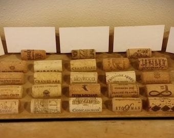 100 USED Natural Wine Cork Place Card Holders-Wedding Decor