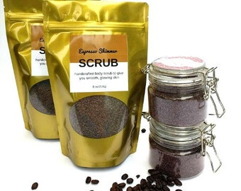 Coffee Scrub - Espresso Shimmer Scrub - shimmer and shine/leaves skin with shimmering glow