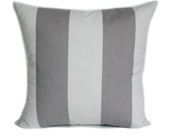 Gray pillow cover, 18x18, Gray throw pillow, Decorative pillow, Accent pillow, Couch pillow, Sofa cushion, Stripe pillow, Toss pillow