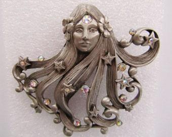 Mythical Medusa JJ Jonette Brooch Pin