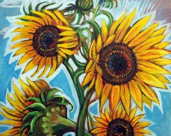 Sunflower Glow - Print