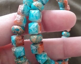 Southwestern Style Beaded Memory Wire Bracelet, Glass Bead Bracelet, Beaded Bracelet, Southwestern Style Jewelry, Beaded Jewelry
