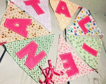 Wall name banner flags,wall name flags,baby name flags,baby name banner,kids room flags,personalized flags,kids room flags,kids room garland