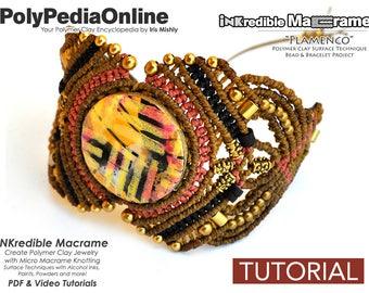 Macrame Patterns, Macrame Jewelry, Macrame Tutorial, Bracelet Pattern, Handmade, Micro Macrame Jewelry, DIY Polymer, Macrame Jewelry Pattern
