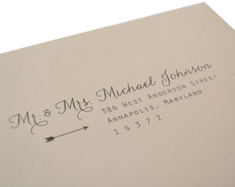 Delicate Arrow Guest Addressing for Wedding or Party Envelopes - Arrow Design