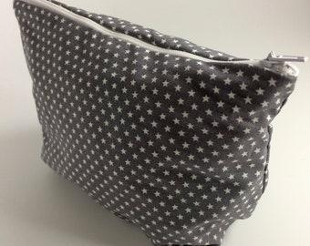 Starry Eyed - Star Pattern Small, Zipped Makeup Bag