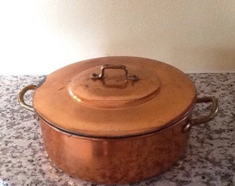 Vintage Copper Dutch Oven