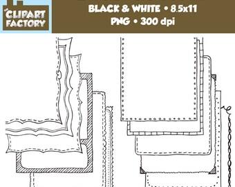 Clip Art: Page Borders - 12 NEW Fun decorative borders - Set #5