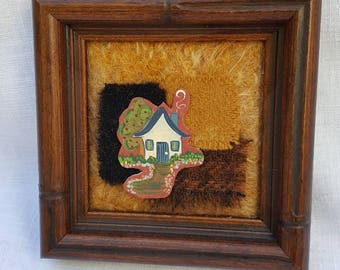 Hand-Painted Primitive House Collage
