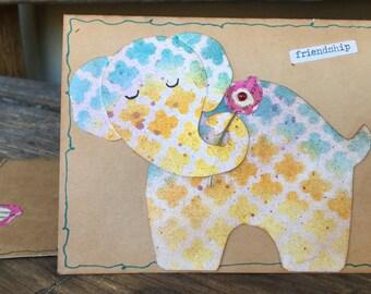 Boho Friendship Elephant Card