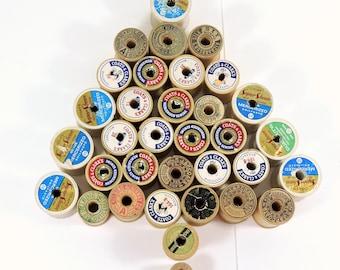 Vintage Thread Spools / Wood Thread Spools /  Wood Sewing Spools