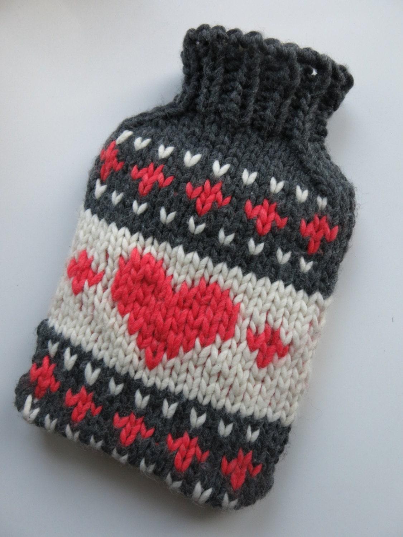 PATTERN Cute Hot Water Bottle Cover Pdf Knitting Pattern from ...