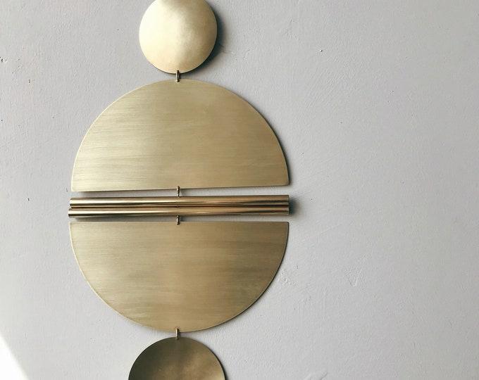 """Brass Wall Hanging - """"Puro"""" - made-to-order - 2 week turnaround time"""