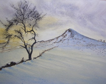 Roseberry topping mid-winter