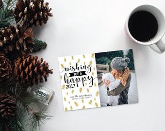Wishing you a happy - Photo christmas card - christmas card - holiday card - photo holiday card - christmas photo card - photo cards