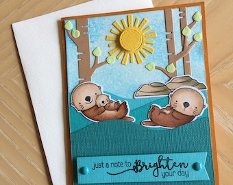 Otter card - Card with otters