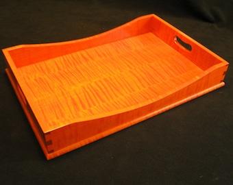 15 x 21 Fall Orange Tiger Maple Serving Tray
