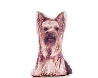 Yorkshire Terrier, Yorkie, Puppy, Dog Pillow, Yorkie Gift, Animal Gift, Fun Pillow, Stuffed Dog, Pets, Children's Decor, Birthday, Gift