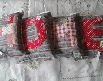 Padded HOME bunting