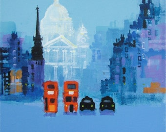 BLUE ST PAULS by Colin Ruffell. Signed and numbered Fine-art print.