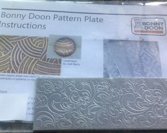 Bonny Doon Pattern Plate for Press or Rolling Mill, #13