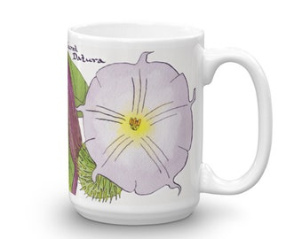 Sacred Datura Coffee Mug - Witchy Gifts For Kitchen Witches