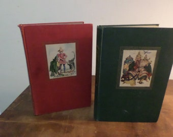 Pair of Vintage 1945 Children's Books Andersen's Fairy Tales and Grimms Fairy Tales Excellen Condition Illustrated