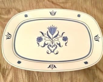 NORITAKE PROGRESSION CHINA lg serving platter blue haven #9004