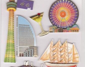 Japanese Stickers - 3D Yokohama Stickers - Reference H2951