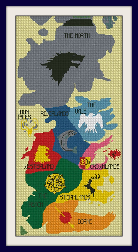 Map of westeros cross stitch pattern game of thrones cross stitch map of westeros cross stitch pattern game of thrones cross stitch patternbogo pdf counted cross stitch patternr165 from magicstitching on etsy studio gumiabroncs Choice Image