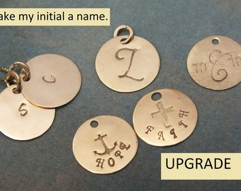 11mm Initial Disk Upgrade to Name or Classic Monogram