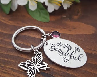 Beautiful Butterfly Keychain | Butterfly Keychain | Inspirational Keychain | Self Esteem Gifts | You are Beautiful Keychain | Butterfly Gift