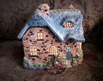 Cottage House Cookie Jar by Thomas Kinkade