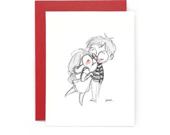 Pssst... I love you - greeting card