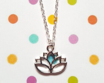Lotus flower necklace, Lotus jewellery, Lotus necklace, Pendant necklace, Lotus flower, Lotus pendant, Lotus, Flower