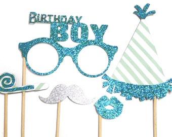 Photo Booth Props - Happy Birthday Mini Set Birthday Boy 5PC