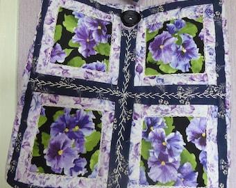 handmade bag designed fabric