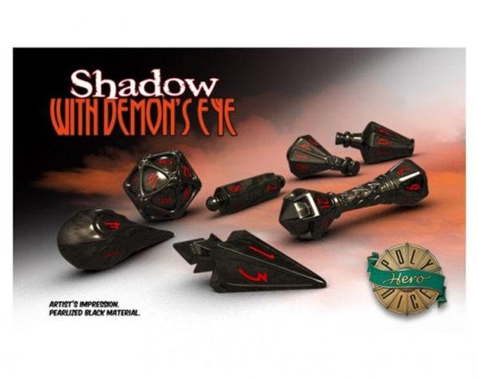 Wizardstone Shadow Demon's Eye Dice Set (7) - 2105 - PolyHero Dice
