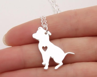 Pit Bull Necklace Dog Pendant Pet Puppy Necklaces Women Necklace Animal Charms(Chain Gift)/dog gift/dog lover/dog necklace/retriever dog