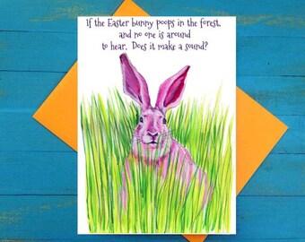 Easter Bunny poop greeting card
